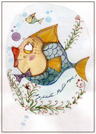 Моя акварель — Иллюстрация на Look At Me