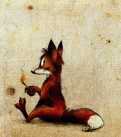 Забавные иллюстрации из жизни лисиц от Skia — Иллюстрация на Look At Me