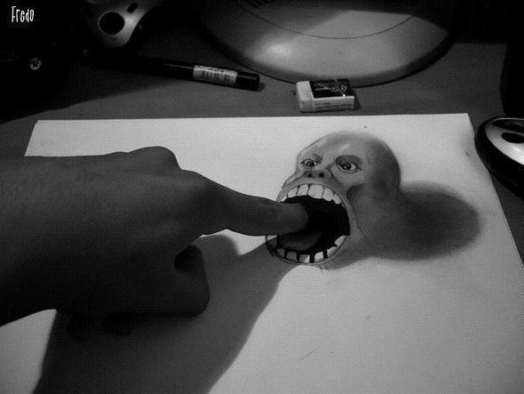 "Реалистичные 3D рисунки ""в карандаше"" — Иллюстрация на Look At Me"