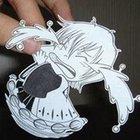Фотоработы аниме из бумаги