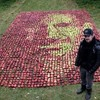 Канадский художник выложил портрет Стива Джобса из яблок