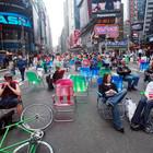 Площадь Таймс-сквер стала пешеходной