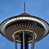 Сотрудник Amazon заснял башню Space Needle в Сиэтле с дрона