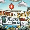 Иллюстрация показывает основные события 2013 года