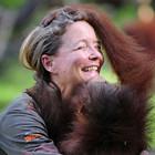 Лоун Дрошер-Нилсен и её обезьянки