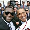 Обама сделал селфи с капитаном бейсбольной команды