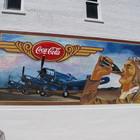 Винтажная настенная роспись для Coca-Cola