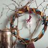Рождественский венок из ивовых прутьев