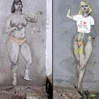 Девушки в стрит-арте
