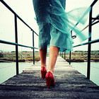 An amazing story of red shoes