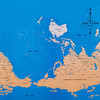 Карта мира с точки зрения Америки, Австралии, ЮАР и Франции