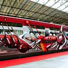 Граффити на скоростном поезде в Париже