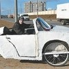 Трёхколёсное электрочудо собрал белорусский школьник