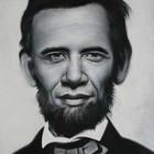 Политические портреты в стиле фьюжн Обама-Линкольн