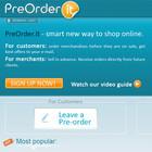 Сервис предварительного заказа новинок электроники