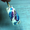 Учимся рисовать бабочку на ногтях
