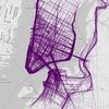 Дизайнер показал беговые маршруты больших городов