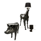 Лошадь-лампа, ходячий стол, шоколадная ваза