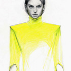 Fashion illustrations by Cedric Rivrian