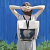 БЕЛОЕ — рюкзаки и сумки из грубого белого хлопка