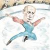 Путин стал фигуристом на обложке The New Yorker