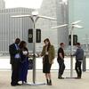 В Нью-Йорке установили солнечные батареи для зарядки телефонов