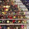 Разноцветная мозаика на лестнице в Сан-Франциско.