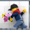 Работы Бэнкси воссоздали в конструкторе LEGO