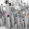 Интерактивная инфографика показала соцсети в виде городов