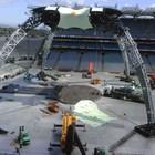 Фото застройки сцены в Croke Park гастрольного тура U2