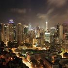 Мегаполисы ночью Гонконг, Дубаи, Нью-Йорк, Шанхай