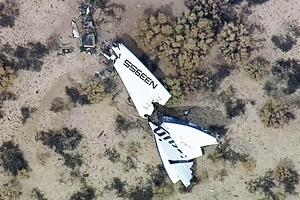 SpaceShipTwo разбился в ходе испытательного полета