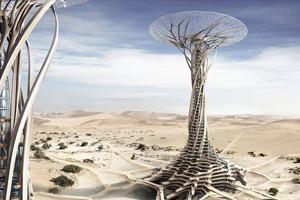 Китайские архитекторы предложили концепцию небоскрёба-гриба в Сахаре