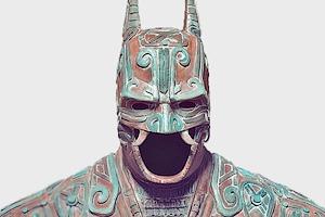 Художник создал бэт-костюм в стиле древних майя