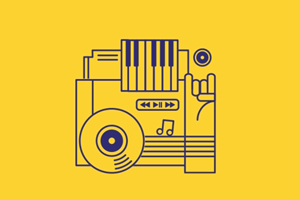 GIF: иконки для конференции креативных индустрий