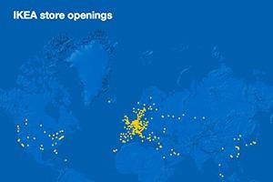 Британский дизайнер показал развитие сети IKEA на интерактивной карте
