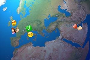 Разработчик создал интерактивную карту с трансляцией Emoji из Twitter