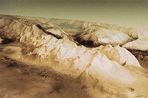 Астрономы показали 3D-визуализацию поверхности Марса