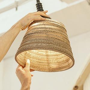 Как сделать из толстого картона абажур для лампы