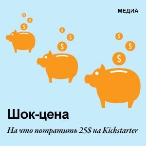 Шок-цена: На что потратить 25 долларов на Kickstarter