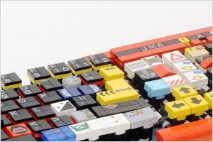 «Кирпичный художник» создал клавиатуру из Lego
