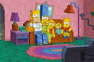Интро «Симпсонов» представили в стиле Minecraft