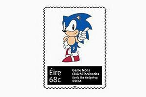 Ирландская почта выпустила марки с Соником и Марио