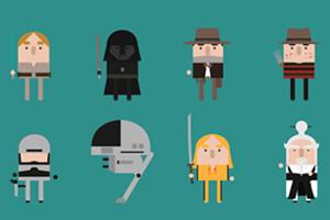 Минутная анимация связала 17 героев классических фильмов