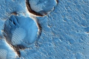 NASA показало местность вокруг героя «Марсианина» с орбиты