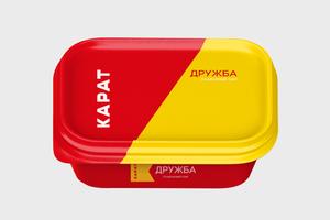 Для упаковок сыров «Дружба» и «Волна» провели редизайн