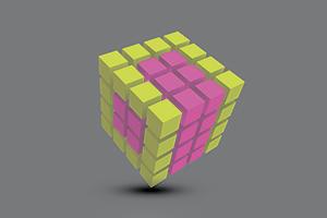 Видео: 84 человека из 11 стран собирают «Кубик Рубика»