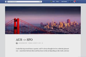 Facebook обновит вид заметок в стиле Medium