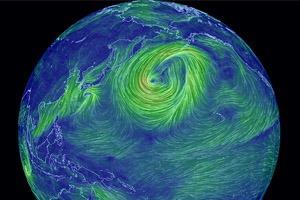 Создана интерактивная карта ветров земли
