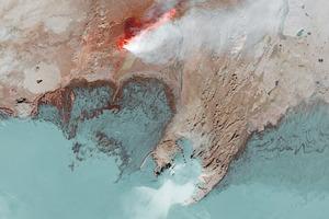 Фото: самый большой вулканический разлом со спутника